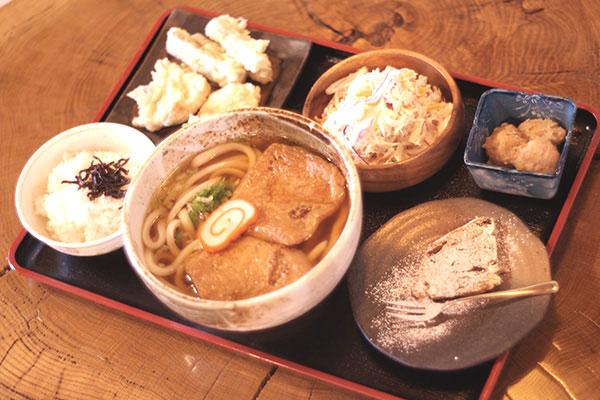 とりゴボウ天ぷら定食