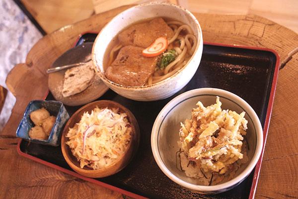 ミニかき揚げ天丼定食